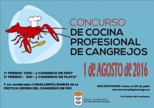 Herrera convoca una nueva edición del Concurso de Cocina Profesional de Cangrejos
