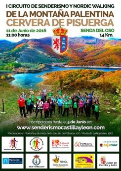 160611. I Circuito de Senderismo y Nordic Walking Montaña Palentina en Cervera