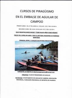 160722. Cursos de Piragüismo en el Embalse de Aguilar