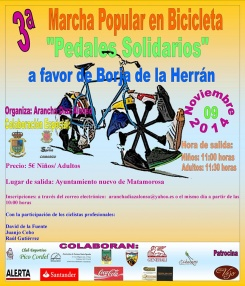 141109. 3ª Marcha Popular en Bicicleta 'Pedales Solidarios'