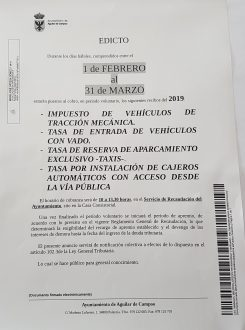 Cobro en voluntaria de recibos del 2019