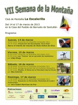 VII Semana de la Montaa del Club La Escalerilla, del 14 al 17 de marzo