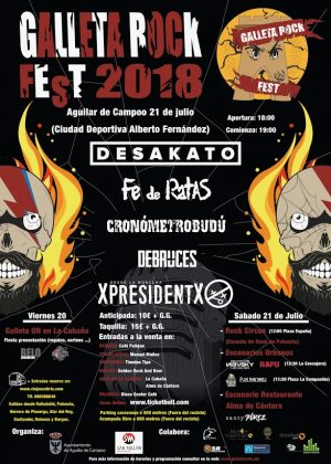 Cartel definitivo del Galleta Rock Fest