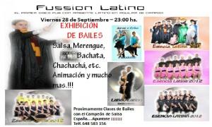 Exhibición de bailes latinos