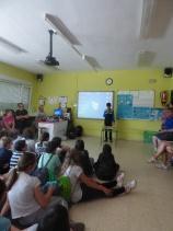 Los alumnos del CEIP Castilla y León de Aguilar participan en una jornada de encuentro con el CEIP Tello Téllez de Palencia